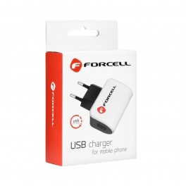 Cargador de RED IPHONE 5/6/6s/6 Plus/7/7Plus/8/8Plus/X con cable USB desmontable FORCELL